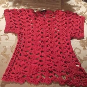 Pink knitted blouse